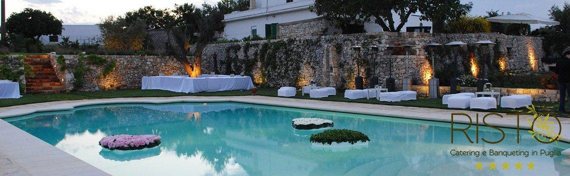 Il matrimonio in piscina rist catering matrimoni in for Candele per piscina
